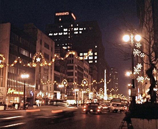 Downtown Detroit 1960s